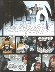 Uncanny X-Men V3 13 Raze Xavier drinking tea