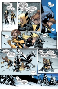 All New X-Men 18 Kitty Magik almost Hug