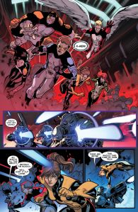 All New X-Men 22 Kitty attacking ShiAr