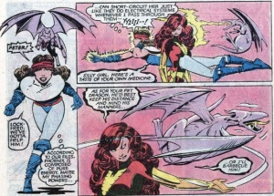 Uncanny X-Men 175 Lockheed fight Dark Phoenix Madelyne