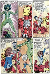 Uncanny X-Men Annual 7 Kitty Pryde beats Iron Man