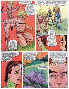 Uncanny X-Men Annual 7 Lockheed Savage Land