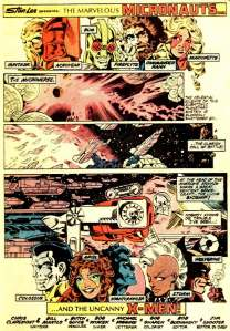 X-Men Micronauts 1 Title Page