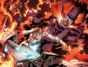 Cataclysm 5 Kitty punches Galactus