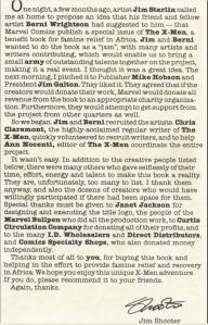 Jim Shooter Letter