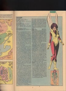 Marvel Handbook 1983 Wasp Paul Smith