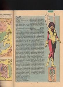 Marvel Handbook 1983 Wasp Paul Smith
