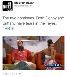 BB16 Brittany Donny on the Block