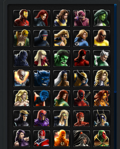 Avengers Alliance Roster 1