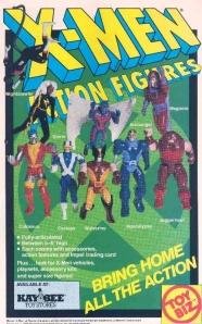Toy Biz X-Men 1991 Action Figures Ad