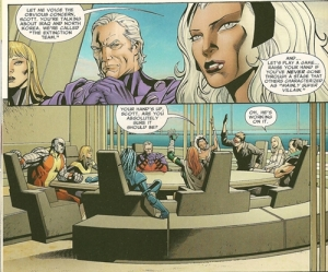 Uncanny X-Men V2 1 Cyclops Raised Hand Storm Question