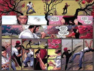 Death of Wolverine 3 Kitty Ogun Fight 1