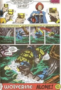 Uncanny X-Men 132 Wolverine water
