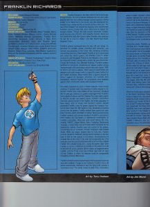 Fantastic Four 2005 Handbook Franklin Richards Terry Dodson