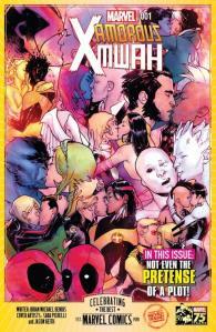 Marvel 75th Anniversary Celebration X-Men Kissing Color