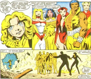 New Mutants Annual 2 Magik Magma crying