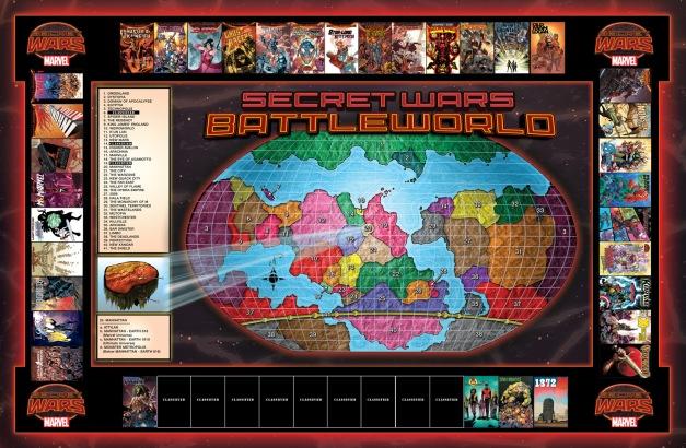 Secret Wars 2015 Battleworld 3-9-15