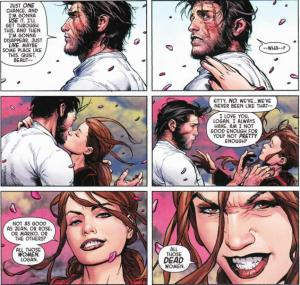 Death of Wolverine 3 Gross Kiss Kitty Logan