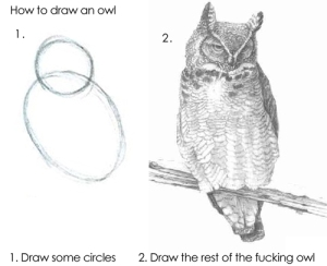 How to Draw Owl joke