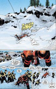 Uncanny X-Men V3 27 Cyclops Hole in Snow