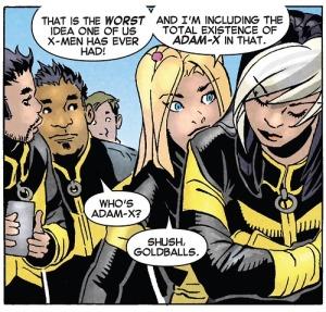 Uncanny X-Men V3 29 Celeste Adam-X joke