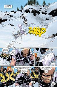 Uncanny X-Men V3 29 Magneto Hole in Snow