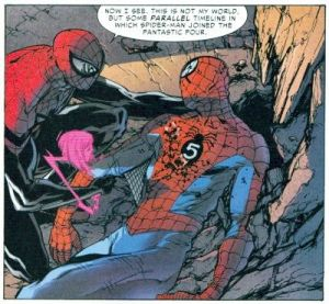 Superior Spider-Man 32 What If Spider-Man Joined Fantastic Four Dead
