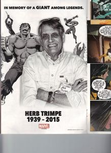 Marvel Tribute Herb Trimpe 1939 - 2015 In Memory of a Giant Among Legends