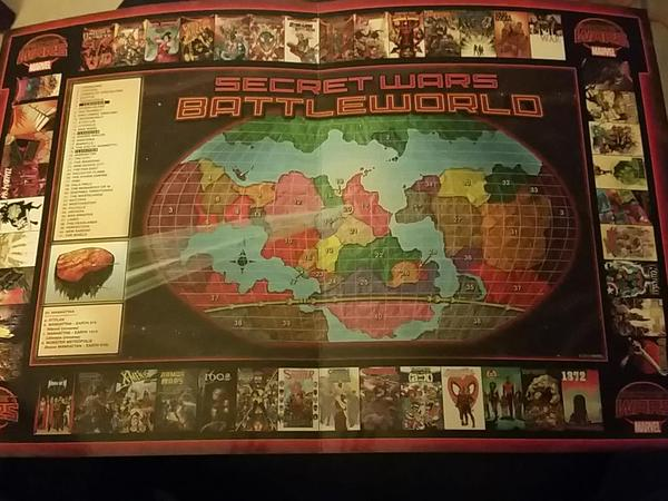 Secret Wars 2015 Battleworld Map Complete with Comic Border