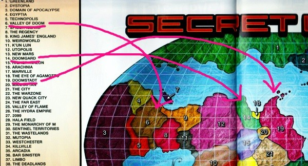 Secret Wars 2015 Battleworld Map Declassified