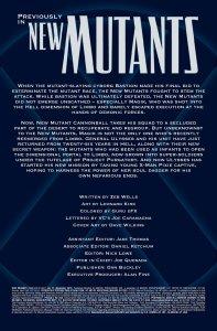 New Mutants V3 17 Recap Page