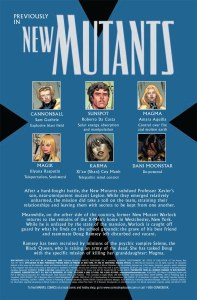 New Mutants V3 6 Recap Page