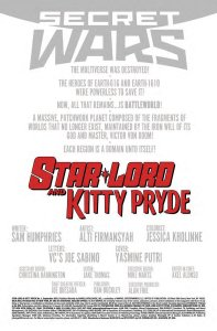 Star Lord and Kitty Pryde 1 Recap