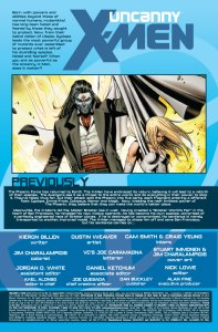 Uncanny X-Men V2 14 Recap Page
