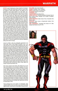 All New Official Handbook of the Marvel Universe A - Z 12 Billy Tan Warpath