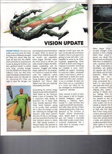 All New All Different Marvel Universe Handbook 5 Vision Update Kitty Pryde Text