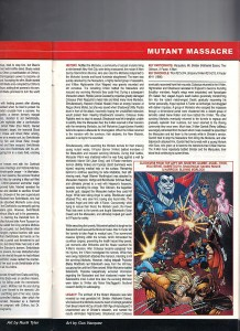 Blockbusters of the Marvel Universe Mutant Massacre Gus Vazquez