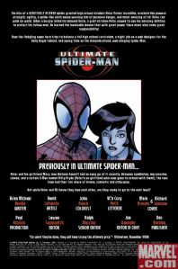 Ultimate Spider-Man Annual 3 Recap Page