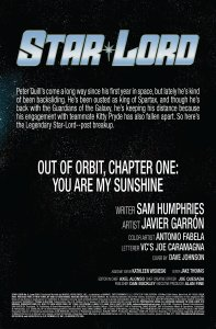 Star Lord 6 Recap Page