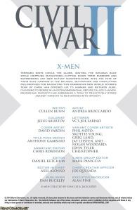 Civil War II X-Men 1 Recap Page